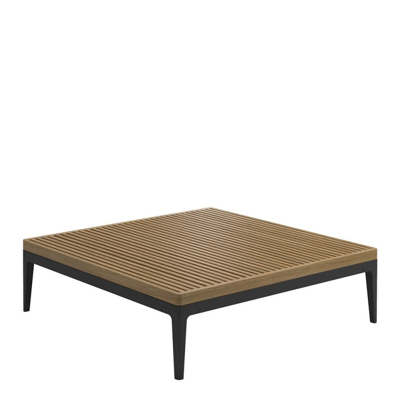 Grid Square coffee table meteor